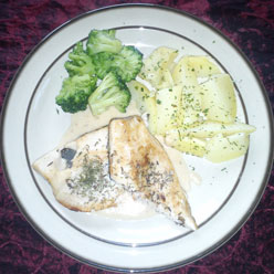Rezept Forellenfilet auf Krenschaum mit Kräuterkartoffeln & Brokkoli
